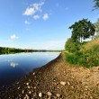 Daugava river with reflection — Stock Photo