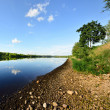 Stock Photo: Daugavriver with reflection