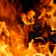 Stock Photo: Fire abstract background