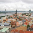 Riga center with Daugava river. View from above — Foto Stock