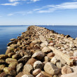 Baltic sea shore near the port of Riga — Stock Photo
