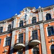 Old building in jugendstyle (Art Nouveau) in Riga, Latvia.  — Stock Photo