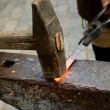 Blacksmith working process — 图库照片