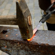 Stock Photo: Blacksmith working process