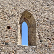 Window in an old castle wall — Stock Photo