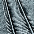 Railroad track close-up — Stock Photo