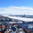 Areal view on the city of Riga, Latvia — Foto Stock