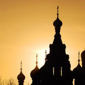 Church of the Savior on Blood in Sait Petersburg at sunset — Stock Photo