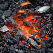 Embers close-up — Stock Photo