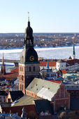 Areal view on the Riga Dome caphedral — Stock Photo