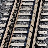 Железнодорожные пути макро — Стоковое фото