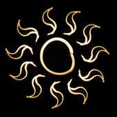 Soyut güneş lightbrush tarafından çizilmiş — Stok fotoğraf