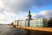 Panoramic view on old part of Saint Petersburg — Stock Photo