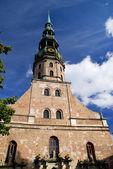 Saint Peter's church in Riga, Latvia — Stock Photo