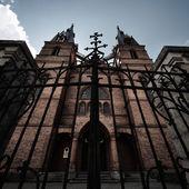 Chiesa cattolica in rezekne, lettonia — Foto Stock