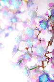 Close-up albero artificiale a mano — Foto Stock
