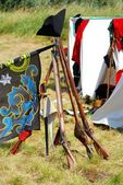 Reconstructed war camp from napoleonic times — Stock Photo