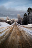 A road with snow — Stock Photo