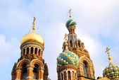 Top of ortodox Church of the Savior on Blood in Sait Petersburg — Stock Photo