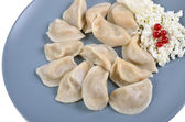 Dumplings on the dish — Stock Photo
