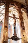 Crucifixion sigh — Stock Photo