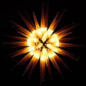 Lámpara que se parece a la estrella que brilla en la oscuridad — Foto de Stock
