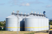 Cereal elevator tank at the port of Ventspils — Stock Photo