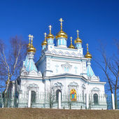 Orthodox church in Daugavpils, Latvia — Stockfoto