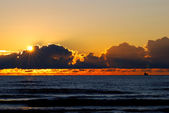 Open Baltic sea at the sunset — Stock Photo