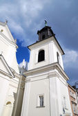Church in an old part of the town in Warsaw, Poland — Stock Photo