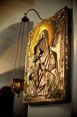 Orthodox church in the dark — Stock Photo