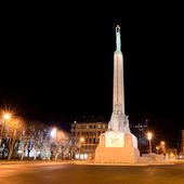 Milda - the monument of freedom in Riga. Latvia — Foto Stock