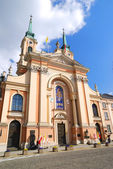 A building in Warsaw old town — Stock Photo
