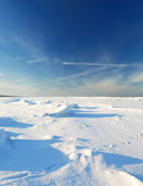 Ice desert winter landscape — Stock Photo