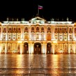 Winter Palace (Hermitage) Saint Petersburg city by night — Stockfoto #38697481
