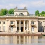 The Lazienki palace in Lazienki Park, Warsaw. Lazienki Krolewskie — Stock Photo