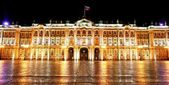 Winter Palace (Hermitage) Saint Petersburg city by night — Foto de Stock