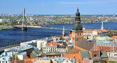 Algemene uitzicht op riga, letland — Stockfoto