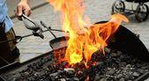 Blacksmith working process — Stock Photo