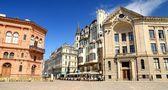Sqare in olda part of Riga, Latvia — Stock Photo