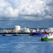 Tankers in cargo port fuel terminal. — Stock Photo