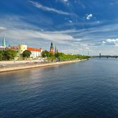 General view on Riga embarkment — Stock Photo