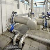 Industrial boiler room — Stock Photo