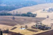 Countryside landscape from areal point of view — Stock Photo