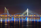 View on Riga keypoints and Daugava river — Stock Photo