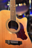 Guitar and other musical equipment — Stock Photo