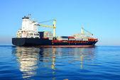 Large cargo container ship,Riga — Stock Photo