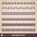 Borders decorative elements set 2 — Stock Vector