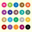 Arrow sign icons set 1 — Stock Vector