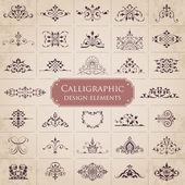 Calligraphic design elements - set 1 — Stock Vector